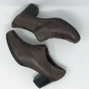 Clark's Brown Leather Booties